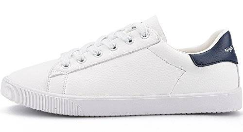 Agsdon Women's Brief White Leather Casual
