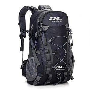 Diamond Candy Hiking Backpack 40L Waterproof Outdoor Lightweight Travel Backpacks for Men and Women with Rain Cover