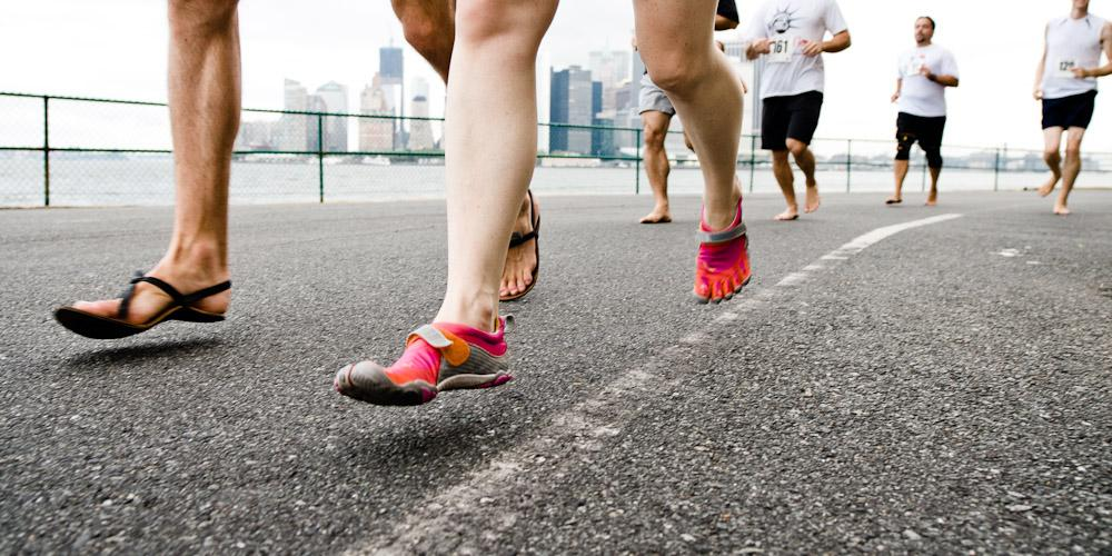 Running form that is proper for supination