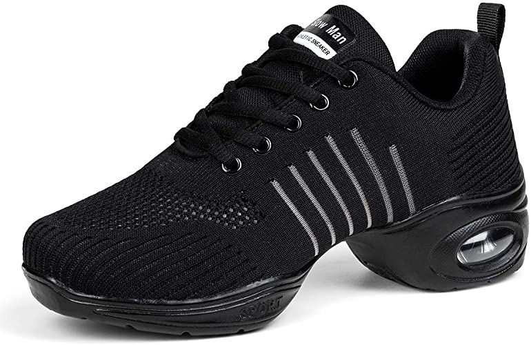 Women's Jazz Shoes Lace-up Sneakers - Breathable